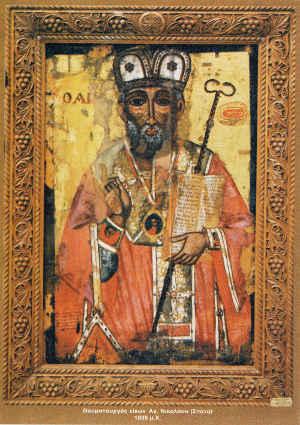 Η θαυματουργή εικόνα του Αγίου Νικολάου στα Σπάτα Αχαϊας